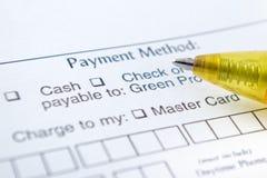 Método do pagamento imagem de stock