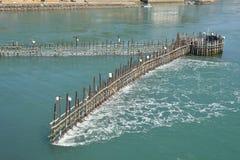 Método tradicional coreano para pescar a anchova Fotos de Stock