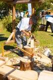 Método tradicional da construção da cabine dos cumes franceses Foto de Stock