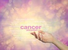 Métodos da prevenção do câncer disponíveis a você imagem de stock