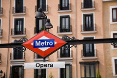Métro d'opéra, Madrid Photo stock