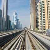 Métro de Dubaï Images libres de droits