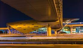 Métro de Dubaï en tant que plus long réseau entièrement automatisé de la métro du monde (75 Photographie stock libre de droits