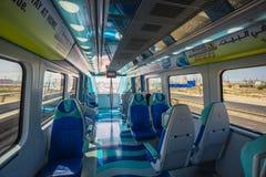 Métro de Dubaï en tant que plus long réseau entièrement automatisé de la métro du monde (75 Image libre de droits