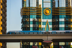 Métro de Dubaï en tant que plus long réseau entièrement automatisé de la métro du monde (75 Photographie stock