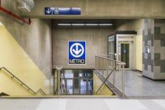 Métro de Montmorency (escaliers et ascenseur) images libres de droits