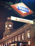 Métro Madrid Image stock