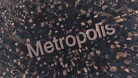 métropole illustration stock