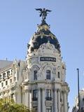 Métropole de construction, Madrid Photos stock
