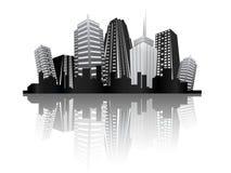 Métropole moderne de ville Photos libres de droits