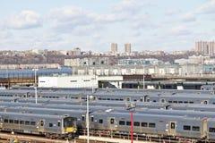 Métros et immeubles de Manhattan Images libres de droits