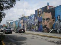México, centro da cidade de Puebla Imagens dos grafittis Fotografia de Stock Royalty Free