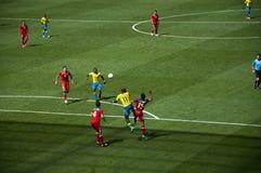 México contra Gabón en las Olimpiadas 2012 de Londres Foto de archivo libre de regalías