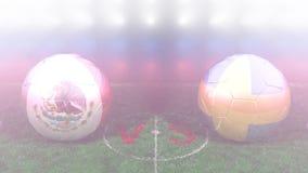 México contra Suecia, mundial 2018 de la FIFA Vídeo original 3D