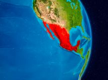 México do espaço Imagem de Stock Royalty Free