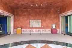 MÉXICO, el 9 de junio de 2016: Interior del museo de las pirámides de Teotihuacan Imagen de archivo libre de regalías