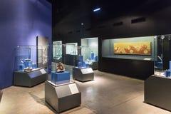 MÉXICO, el 9 de junio de 2016: Interior del museo de las pirámides de Teotihuacan Foto de archivo libre de regalías