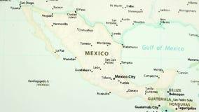 México em um mapa com Defocus video estoque