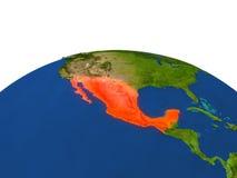 México en rojo de la órbita libre illustration