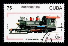 2-6-0 México, Espamer - serie 98 (das locomotivas), cerca de 1996 Imagem de Stock