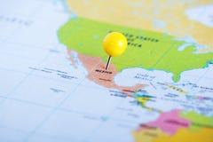México fixou no mapa imagens de stock royalty free