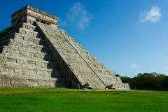 México. Pirâmide maia de Chichen Itza Imagem de Stock