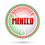 México, projeto geométrico circular Imagem de Stock