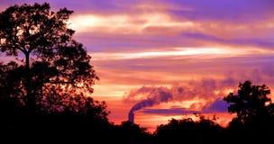 Même/coucher du soleil Images libres de droits