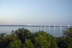 Même la vue de la jetée de Bussselton, WA, Australie images stock