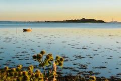 Même le calme, baie d'Aarhus, Danemark Image libre de droits