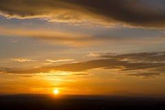 Même le coucher du soleil dans Devin photo libre de droits