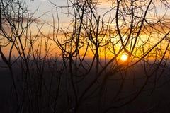Même le coucher du soleil dans Devin images stock
