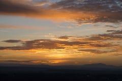 Même le coucher du soleil dans Devin photographie stock libre de droits