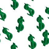 Mêmes tailles vertes d'argent du dollar Configuration sans joint Illustration de vecteur Photos stock