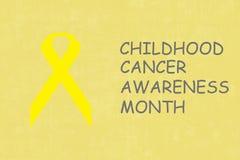 Mês da conscientização do câncer da infância Imagem de Stock Royalty Free