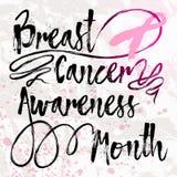 Mês da conscientização do câncer da mama Fotografia de Stock Royalty Free