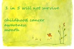 Mês da conscientização do câncer da infância Foto de Stock