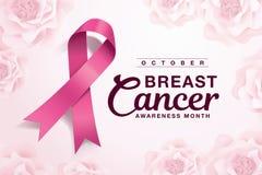 Mês da conscientização do câncer da mama ilustração royalty free