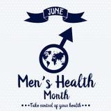Mês da saúde do ` s dos homens ilustração do vetor