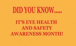 Mês da saúde e da segurança do olho Fotos de Stock Royalty Free