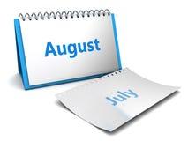 Mês de agosto Imagem de Stock Royalty Free