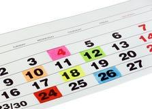 Mês de calendário Imagens de Stock Royalty Free