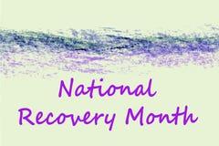 Mês nacional da recuperação Foto de Stock