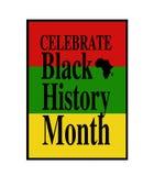 Mês preto da história ilustração royalty free
