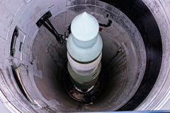 Míssil nuclear Imagem de Stock