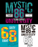 Místico 86 y 68 ilustración del vector