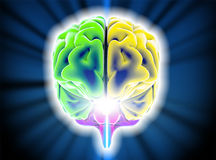 Móżdżkowe degeneracyjne choroby, Parkinson, synapses, neurony, Alzheimer ` s Obraz Royalty Free
