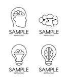 Móżdżkowego psychologia pomysłu loga kreatywnie projekt Obrazy Stock