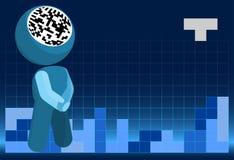 móżdżkowi ilustracyjni mastermindu władzy tetris Obrazy Stock
