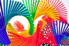 Móbil de bambu colorido Fotos de Stock Royalty Free